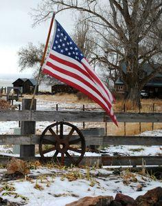 rural American flag