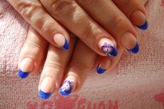 Anastasia Pasad - naildesigne Blau + Pinselmalerei