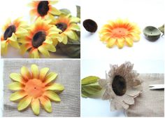 Burlap Sunflower Tutorial- to put in a wreath