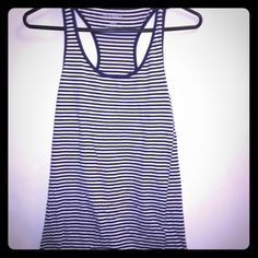 Old navy striped tank Navy blue and white racerback striped tank from old navy. In good condition just a little wrinkly. Old Navy Tops Tank Tops