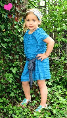 New PDF pattern from Create kids couture. Jades ruffle fabric boho dress!