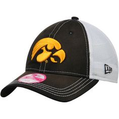 f593bf7d6d5 Iowa Hawkeyes New Era Women s Spirited Trucker Adjustable Hat - Black