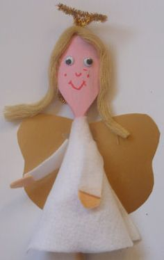 Wooden Spoon Angel