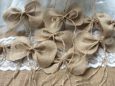 handmade primitive burlap bows wedding decor or Christmas tree bows ornaments – Etsy handmade primitive burlap bows wedding decor or Christmas tree bows ornaments handmade primitive burlap bows wedding decor or Christmas tree bows ornaments Twine Flowers, Lace Flowers, Fabric Flowers, Burlap Lace, Burlap Bows, Burlap Wreath, Wedding Bows, Wedding Cakes With Flowers, Tree Wedding