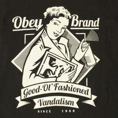 Good-Ol'Fashioned Vandalism, Obey Illustration by Shepard Fairey Love Graffiti, Street Art Graffiti, Obey Prints, Shepard Fairey Art, Shepard Fairy, Obey Art, Illustrations Posters, Art Photography, Graphic Design