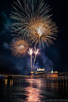 Fireworks - Bratislava, Slovakia Fireworks Photography, Bratislava Slovakia, Fire Works, Central And Eastern Europe, Computer Wallpaper, Beautiful Places, Amazing Places, The Good Place, Cool Pictures