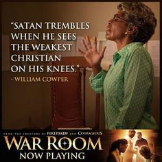 So much power in prayer!  #WarRoom                                                                                                                                                                                 More