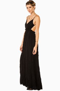 ShopSosie Style : Maybe I'm Dreaming Maxi Dress in Black