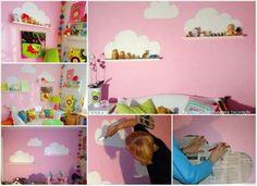 Nuvens para decorar o quarto das crianças.