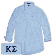 Campus Classics -  Kappa Sigma Light Blue Button Down Shirt: $31.95