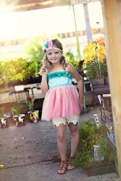 Gypsy Kids Clothing kids fashion | summer dress | photoshoot outfit | turquoise pink