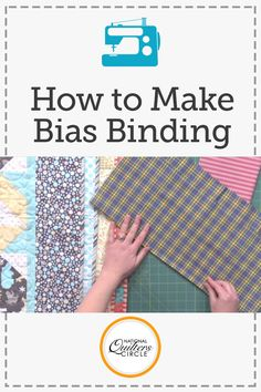Angie Hodapp helps you save time and money at the quilt store for the next time you are buying fabric for a biased binding. After figuring out the math, get into cutting and measuring to bind on the bias. Learn techniques about how to hide the seam and why you should always use a bias cut for plaid bindings.