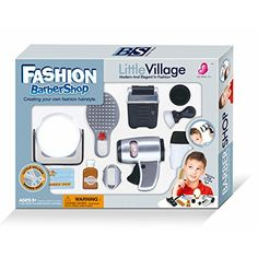 WPS Play Accessories Barber Shop Salon Hairstyle Play Set Kit with Mirror for Boy Kids Toy Gift D ** Click image to review more details.