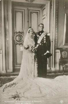 Crown Prince Frederik of Denmark and Iceland & Princess Ingrid of Sweden   {1935}