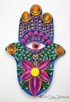 Quilled Hamsa Hand  #quilling #hamsa #hand #spiritual
