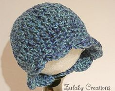 Crochet Baby Hat, Baby Girl Hat, Newborn Beanie, Baby Newborn Hat, Beanie, Ready to Ship, Turquoise Blue, Baby Girl Hat - Item # CBH0002B