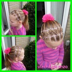 a elastic hairstyle #hairstylesforgirls #haircreations #girlyhairstyles #girlshairstyles