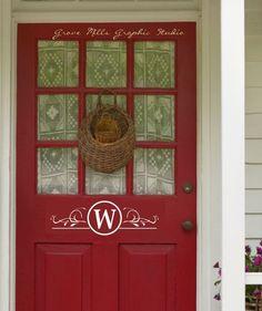 Custom Door Monogram by WallapaloozaDecals on Etsy, $12.00