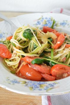 courgetti Healthy and simple diner