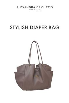 Are you looking for a stylish leather diaper bag? Click through to check out this designer diaper bag handmade in Italy! Alexandra de Curtis #leatherbags #designerleatherbag #diaperbag Italian Leather Handbags, Designer Leather Handbags, Leather Diaper Bags, Italian Street, Brown Leather Handbags, How To Make Handbags, One Bag, Italian Fashion, Leather Design