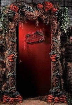 HAUNTED FOREST HOUSE DOOR.  I think I have to make this.