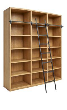 CAMUS Bücherregal aus Holz mit passender Leiter