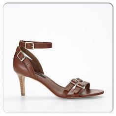 """⚡️Strappy Sandals ⚡️New in box. Ann Taylor Leather sandal. Padded footbed and modest 2.5"""" heel. Retail $158+tax.✨ Ann Taylor Shoes Sandals"""