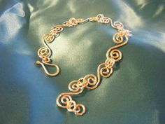 Hand Forged Sterling Silver Link Bracelet - Made to Order to Fit You - Swirly and Girly - and Oh So Lovely. $52.00, via Etsy.