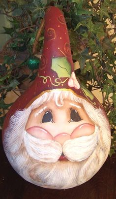 free images to paint on gourds | Santa face Gourd Pattern Packet #01