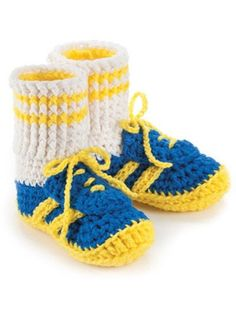 Maggie's Crochet · Big Foot Boutique #crochet #pattern #children #slippers #cowboy #boots #sneakers #fashion