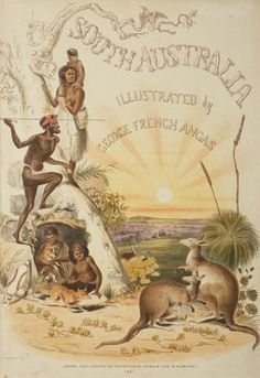 South Australia Illustrated by George French Angas. Aboriginal History, Aboriginal Culture, Aboriginal People, Aboriginal Art, Australian People, Australian Vintage, Melbourne, Sydney, Cigar Box Art