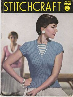 Stitchcraft Magazine June 1956 Knitting Pattern by jennylouvintage