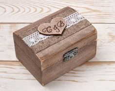 Wedding Ring Box Ring Holder Pillow Bearer by InesesWeddingGallery