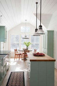 Collection of country kitchens from modern to cottage to farmhouse style.