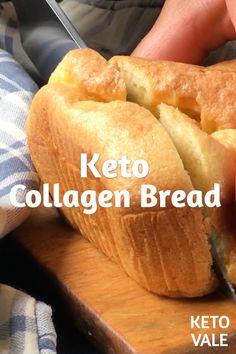 Diet Snacks Low Carb Collagen Protein Bread for Keto diet Best Keto Bread, Best Keto Diet, Low Carb Bread, Low Carb Keto, Keto Diet Foods, Hcg Diet, Ketogenic Recipes, Low Carb Recipes, Diet Recipes