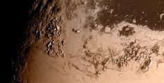 Опубликован новый снимок фрагмента поверхности Плутона в высоком разрешении