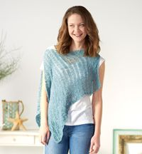 Linen Waves Cover-up - The perfect #crochet pattern for summer - wear it as a #poncho or a swim or beach #cover-up.