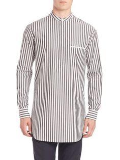 3.1 PHILLIP LIM Stripe Henley Tunic. #3.1philliplim #cloth #tunic