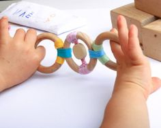 Organic Baby Teething  toy / ECO-Friendly baby teether/ Wooden