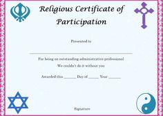 Certificate Of Partcipation In Seminar  Certificate Of
