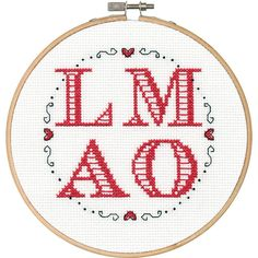 """LMAO Counted Cross Stitch Kit-6"""" Round 14 Count"""
