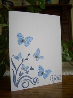 Precious Kissed Butterflies by stampin'nana - Cards and Paper Crafts at Splitcoaststampers