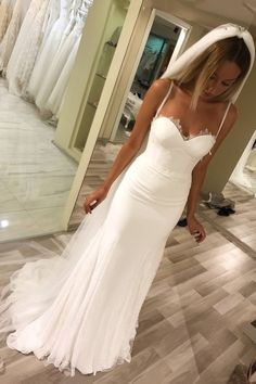Simple V Neck Cross Back White Satin Wedding Dresses with Pockets,Beach Wedding Gown This product was successfully added to cart!Simple V Neck Cross Back White Satin Wedding Dresses with Pockets,Beach Wedding Gown------------ Wedding Dress Chiffon, Spaghetti Strap Wedding Dress, Wedding Dresses With Straps, Wedding Dress Train, Applique Wedding Dress, Wedding Dresses 2018, Lace Mermaid Wedding Dress, Tulle Wedding, Mermaid Dresses