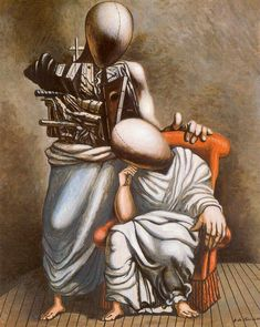 De Chirico - El que consuela. 1958 #dechirico #paintings #art