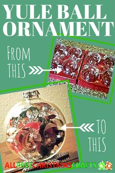 This Yule Ball Ornament is a handmade Christmas delight!