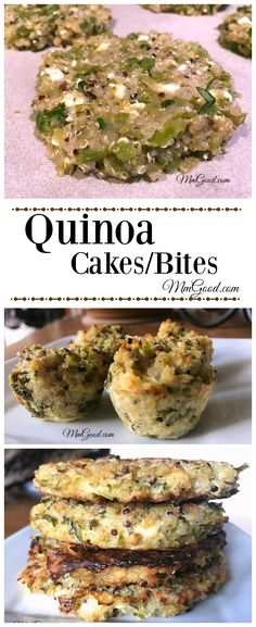 My quinoa cakes are made with broccoli, onion, and feta, they can be made into cakes, or bites.  The quinoa cakes can be eaten with eggs, on a salad or as a side dish.  The bites are the perfect appetizer.  You will love this recipe! | www.MmGood.com