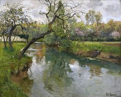 Frits Thaulow: A French River Landscape, Arques, 1896