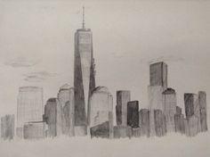 From my new sketch book its bigger and better to draw in 😋NYC😘