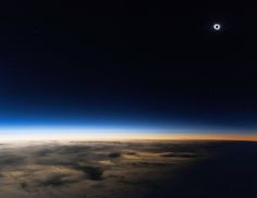 "The solar eclipse on Friday, March 20, 2015, photographed at 14,000 meters. (Credit and copyright: Guillaume Cannat) Mona Evans, ""Solar Eclipses"" http://www.bellaonline.com/articles/art28395.asp"