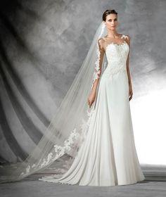 PRADAL - Flared gauze wedding dress   Pronovias